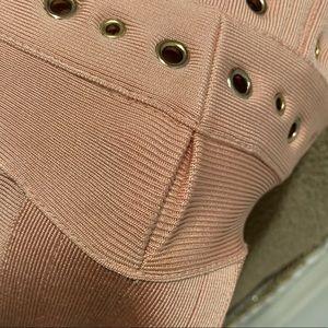 House of CB Dresses - House of CB sheer millennial pink bandage dress